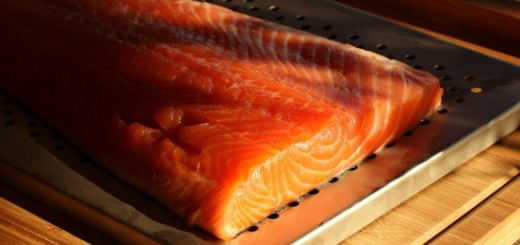 installation du saumon dans fumoir